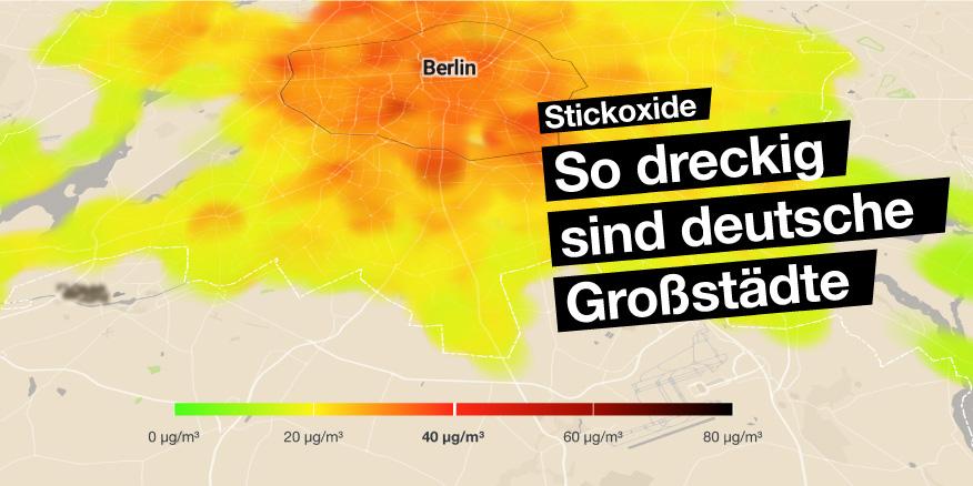 luftverschmutzung karte deutschland NOx: Wie dreckig sind deutsche Großstädte? | Greenpeace